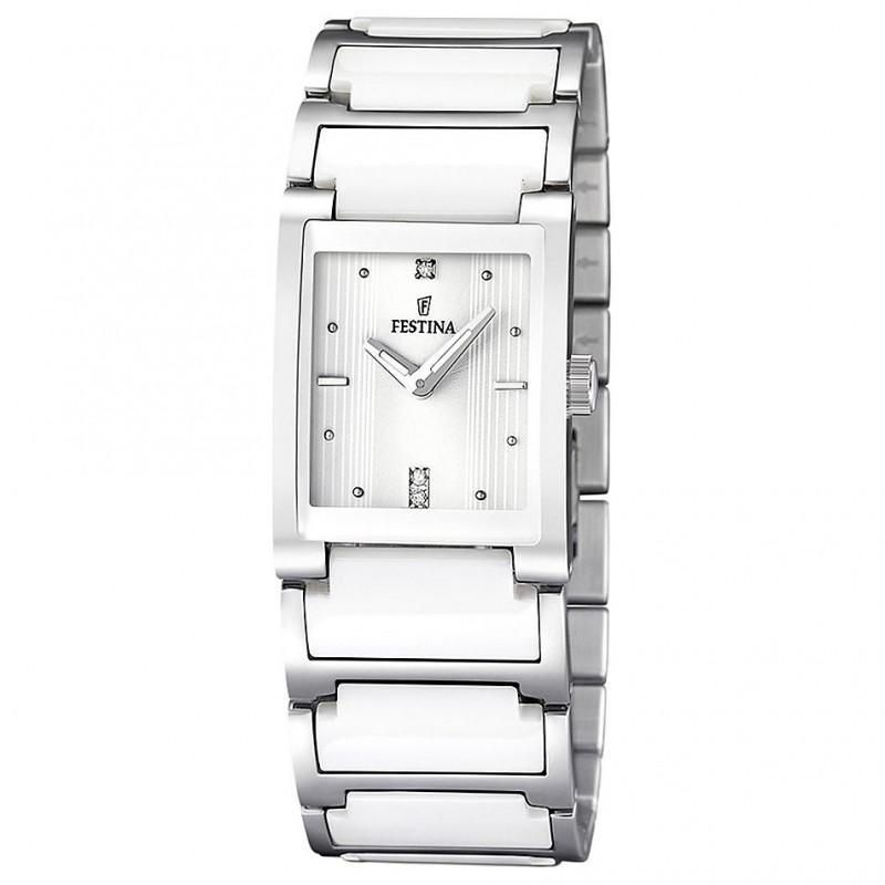 Festina Damen-Armbanduhr XS Analog Quarz Keramik F16536/1