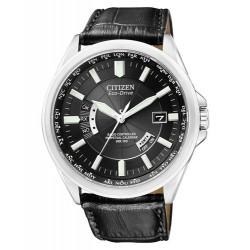 Citizen Herren-Armbanduhr Funk und Solar. Analog Quarz Leder CB0010-02E