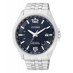 Citizen Herren-Armbanduhr Solar Funkuhren Quarz Edelstahl CB0010-88L
