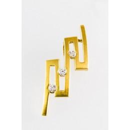 585 Gold Anhänger. Zigzag Form. Matt. (GAN17)