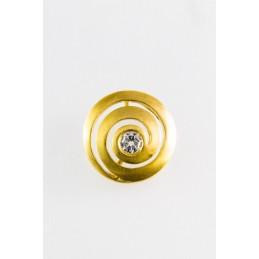 585 Gelbgold Anhänger. Spiral. matt. (GAN21)
