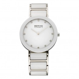 BERING Time Damen-Armbanduhr Flach Keramik ( Ceramic ) Weiss Analog Quarz (11435-754)