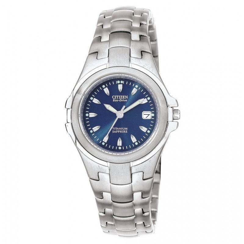 Citizen Eco-Drive (Solar) Damen Armbanduhr Super Titanium (EW0650-51L)