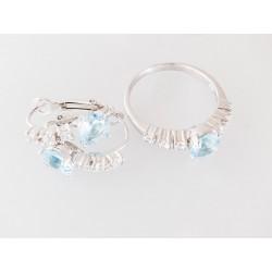 Silber Schmuckset Ring und Ohrringe