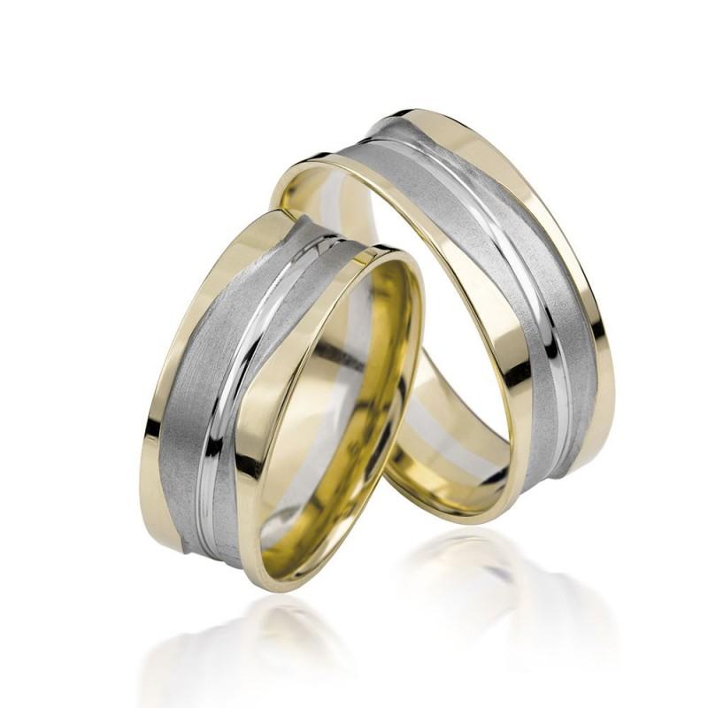 585K. (14K) Gelbgold Hochzeitsringe Eheringe Trauringe Partnerringe PAARPREIS (S119)