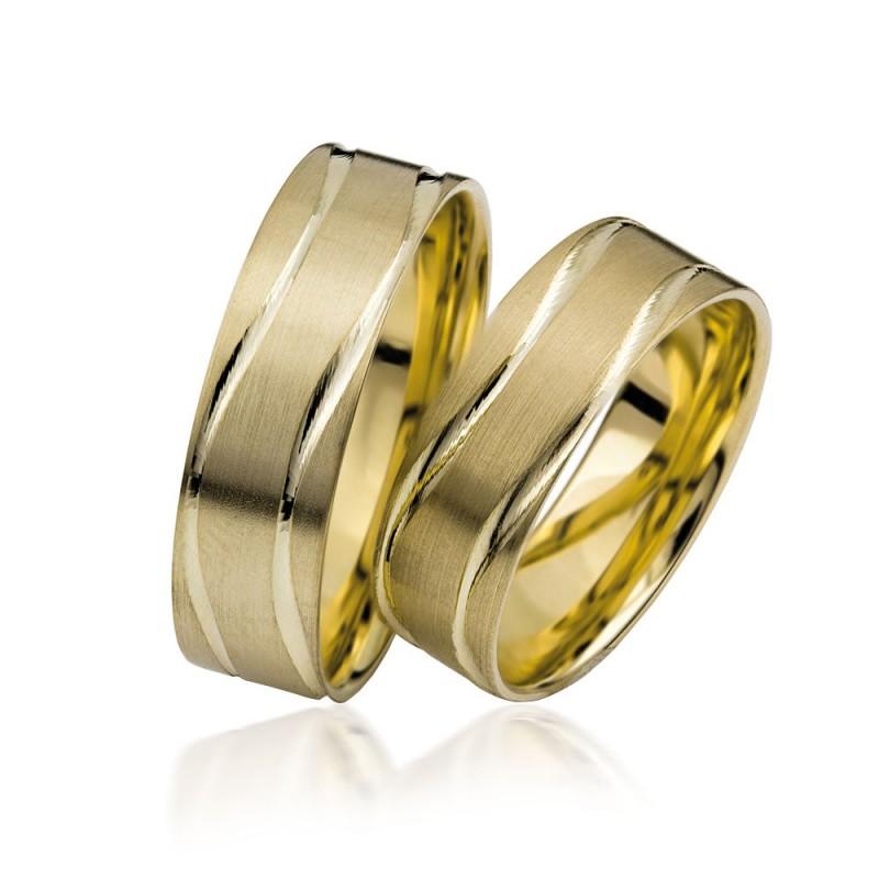 585K. Gelbgold Hochzeitsringe Eheringe Trauringe Partnerringe PAARPREIS (S113)