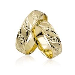 585K. Gelbgold Hochzeitsringe Eheringe Trauringe Partnerringe PAARPREIS (S115)