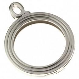 Quoins, Anhänger Rahmen Edelstahl, 36 mm.Pendant Stainless Steel. QHO-05L-E
