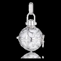Engelsrufer Silber rhodiniert Klangkugel Anhänger weiß S.16mm. (ER-01-S)