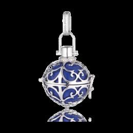 Engelsrufer Silber rhodiniert Anhänger blau Klangkugel.M 20mm. (ER-07-M)