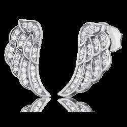 Engelsrufer Damen- Ohrstecker Flügel mit Zirkonia rhodiniert (ERE-LILWINGS-ZI-ST)