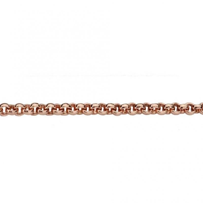 Quoins Halskette Damen Kette Edelstahl rose 2,3mm- 50 cm (QK-ER1-50)