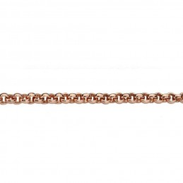 Quoins Halskette Damen Kette Edelstahl rose 2,3mm- 70 cm (QK-ER-70)