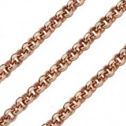 Quoins Halskette Damen Kette Edelstahl rose-vergoldet 2,3mm- 60 cm (QK-ER1-60)