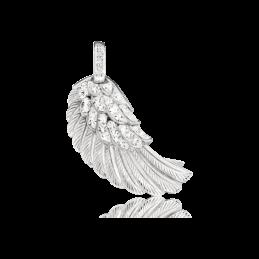 Engelsrufer Silber Anhänger Kristall Flügel rhodiniert (ERW-M-01-ZI)