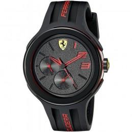 Ferrari Scuderia Fxx Herren Armbanduhr 46mm Schwarz Silizium mit Datum (830223)