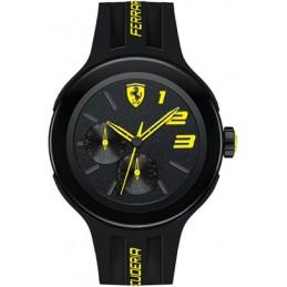 Ferrari Herren Armbanduhr Scuderia Fxx 46mm Schwarz Silizium Uhr (830224)