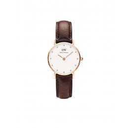 Daniel Wellington Uhr Classy Bristol Leder-rotbraun Damen Leder NEU 0903DW / DW00100062
