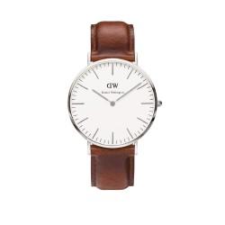 Daniel Wellington Herren-Armbanduhr XL St.Mawes Analog Quarz Leder  0207DW / DW00100021