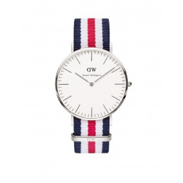 Daniel Wellington Uhr Classic Canterbury Nato-blau-weiß-rot Herren Textilarmband 0202DW / DW00100016