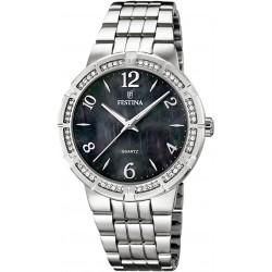 Festina Edelstahl Damen Quarz Armbanduhr Silber Trend F16703/2 Quarzuhr