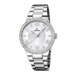 Festina Damen Analog Quarz Uhr mit Edelstahl Armband mit ZirkoniaF16719/1