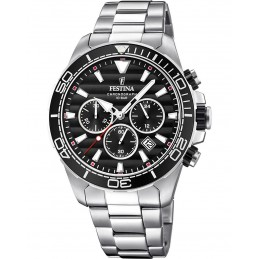 Festina Herren Chronograph Quarz Uhr mit Edelstahl Armband 10bar F20361/4