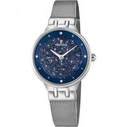 Festina Damen Analog Quarz Uhr mit Edelstahl Armband Swarovski Element F20385/2