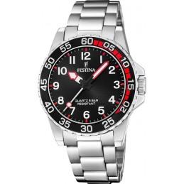 Festina Herren Analog Quarz Uhr mit Edelstahl Armbanduhr (Junior Collektion) F20459/3