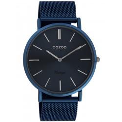 Oozoo Vintage Herrenuhr mit Milanaiseband Dark Blue 44 MM Dunkelblau C20015