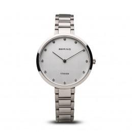 Bering Damen Armbanduhr Titanium Silber glänzend (11334-770)
