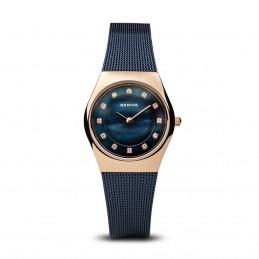 Bering Damen Armbanduhr Classic roségold Milanaise Armband glänzend (11927-367)