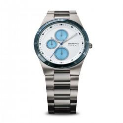 BERING Herren-Armbanduhr Analog Quarz Keramik- Edelstahl Armband (32339-707)