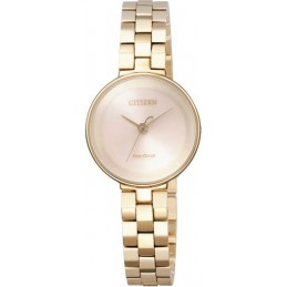 Citizen Damen Solar (Eko-Drive) Analog Quarz Uhr mit Edelstahl Armband EW5503-59W