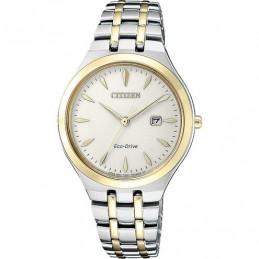 Citizen Solar (Eko Drive) Damen-Armbanduhr Bicolor Elegance 5ATM EW2494-89B