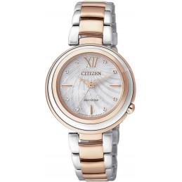 Citizen Eco-Drive Elegant Damen Armbanduhr bicolor 5ATM  (EM0335-51D)