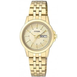 Citizen Analog Quarz Damenuhr mit Edelstahl Armband (EQ0603-59PE)