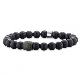 Save Brave Onyx-Carbon Edelstahl Armband (SBB-ANDREW)