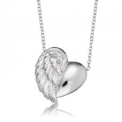 Engelsrufer 925 Silber Kette mit  Herzflügel- 3 Zirkonia  ERN-LILHEARTWING