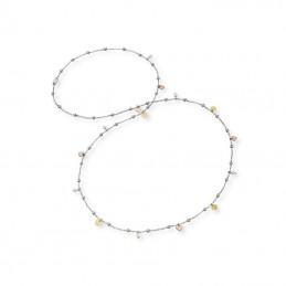 Engelsrufer Silberkette rhodiniert »Herzen, Little Joy«, mit Muschelkernperlen,Süßwasserperlen Tricolor  ERN-LILJOY-PE-TR