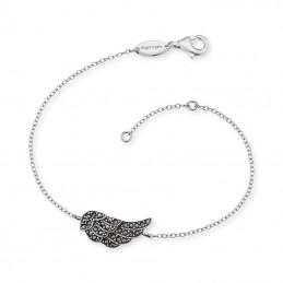 Engelsrufer Armband Flügel 925 Silber-Oxidiert - 28 Markasit ERB-LILWING-MA
