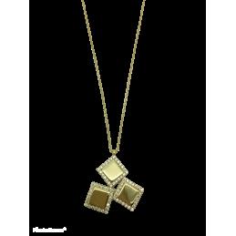 Kette Quadrate Gold 585 mit...