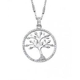Lotus Silber Halskette-...