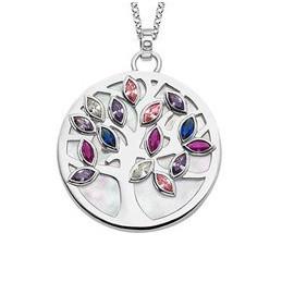 Lotus Silber Halskette mit...