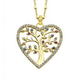 Lotus Silber Herz Collier...