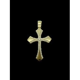 Kreuz Anhänger Gelbgold 585...