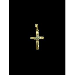 Anhänger Kreuz Gold bicolor...