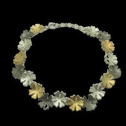 Armband Blumen 925K Silber...