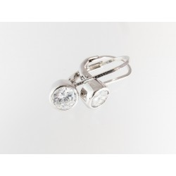 925 Silber Klappbügel- Ohrringe. (SOR9)